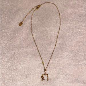Juicy Couture Adjustable Wishbone Necklace